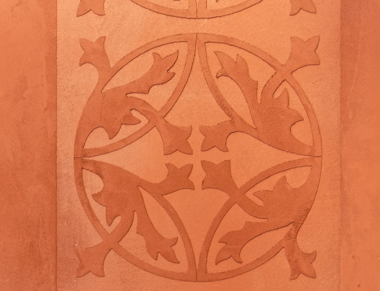 Lehmputz Ornament Relief